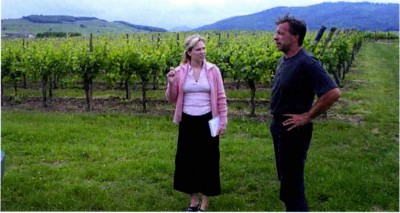 Ett besök i vingården med vinansvarige på Dopff & Irion.
