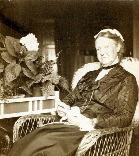 Fanny Huss. Bilden togs cirka 1920.
