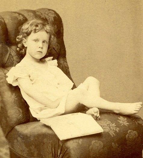 Arvid Huss som femåring.