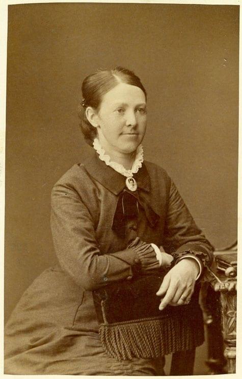 Fanny Huss. Bilden togs 1883.