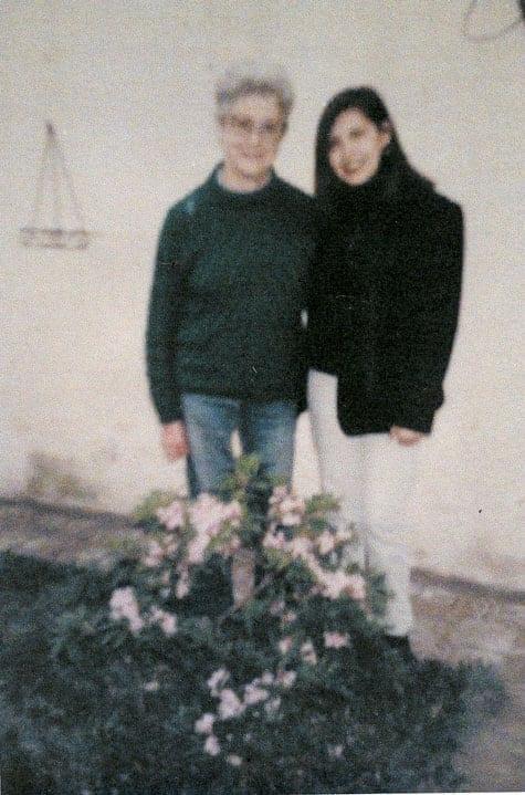 Margarita Sambucetti med sin brorsdotter  Maria José Huss Rivarola.