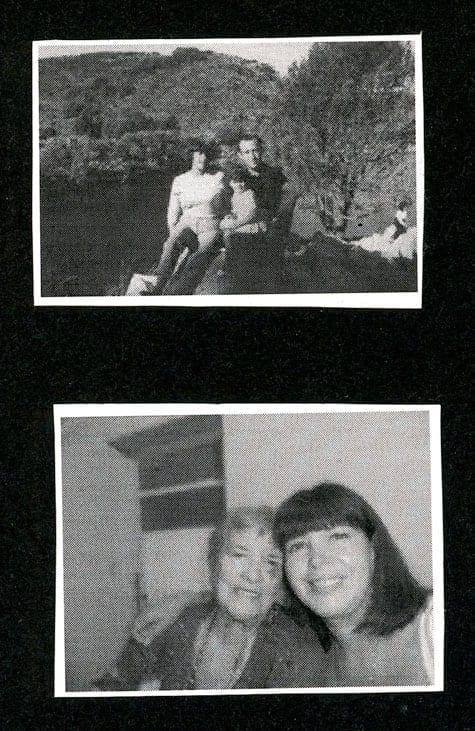 Övre bilden: Milma och Jorge Norberto Huss med Maria José i knät. Undre bilden: Milma och Maria José.